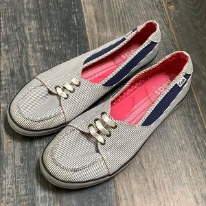 Keds Beacon Striped Boat Shoes